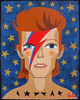 David Bowie Aladdin Sane by LuLu Mypinkturtle