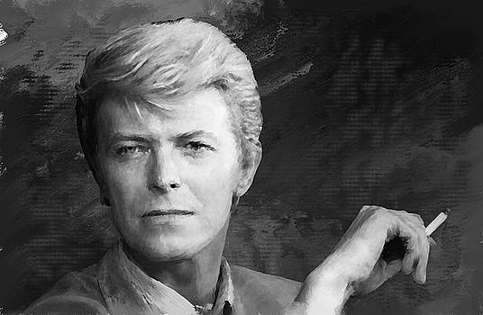 David Bowie Painting by Brian Tones