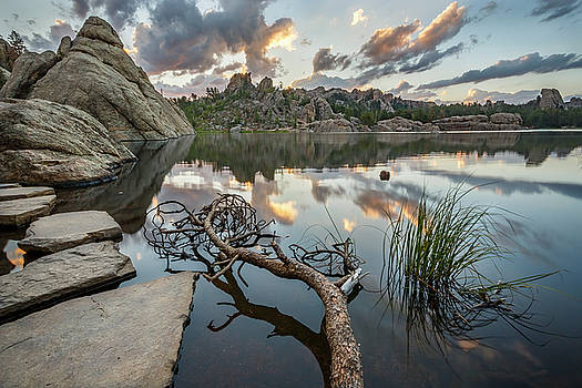 Dawn at Sylvan Lake by Adam Romanowicz