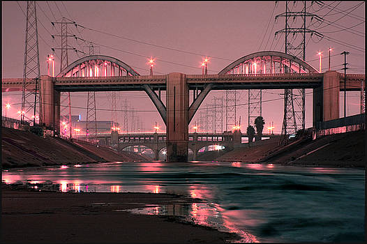 Dawn at the 6th Street Bridge by Kevin  Break