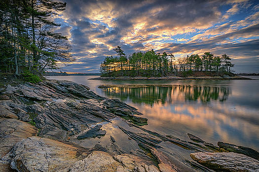 Dawn at Wolfe's Neck Woods by Rick Berk