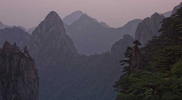 Dawn in the Yellow Mountains Huangshan China by Arabesque Saraswathi