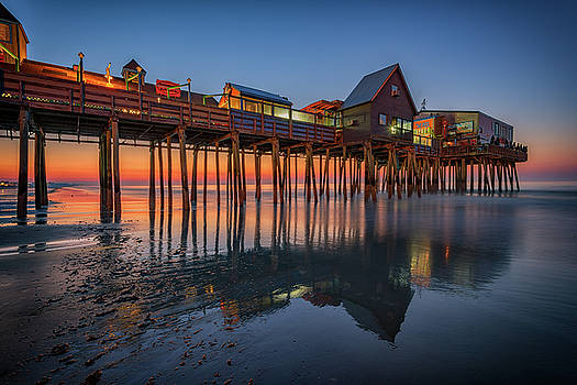 Dawn on Old Orchard Beach by Rick Berk