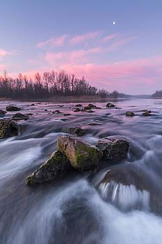 Dawn on river Drava by Davorin Mance