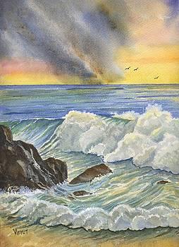 Dawn on the Beach by Vidyut Singhal