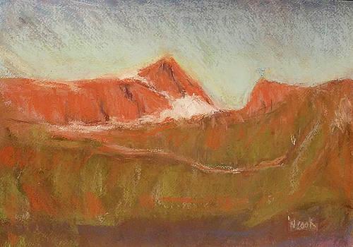 Dawn Over Mt Albert Edward by Nanci Cook