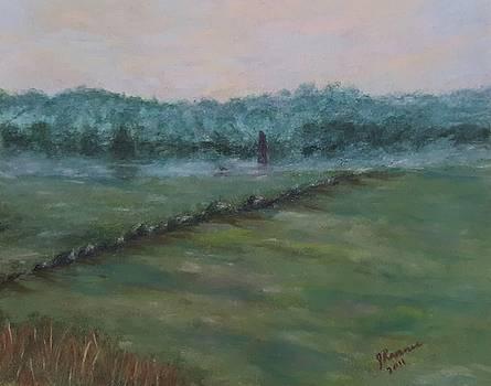 Dawn Over The Railroad Cut-Gettysburg by Joann Renner