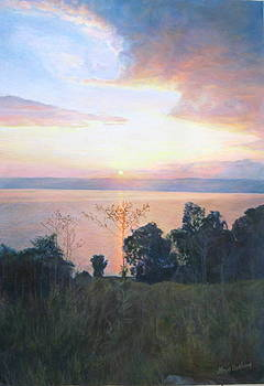 Dawn over the Sea of Galilee. by Maya Bukhina