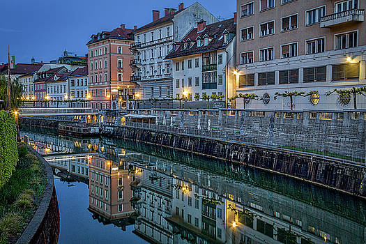 Dawn River Reflections #3 - Slovenia by Stuart Litoff
