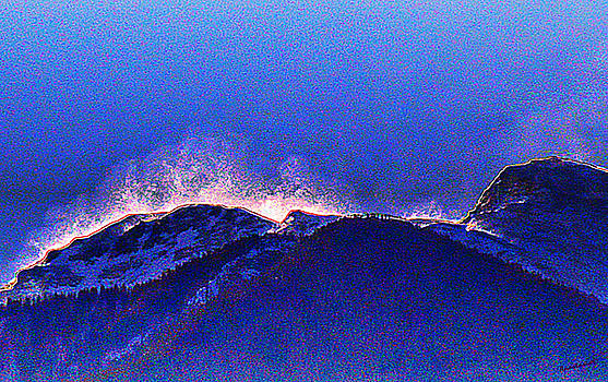 Dawn with Snow Banners Over Truchas Peaks by Anastasia Savage Ealy