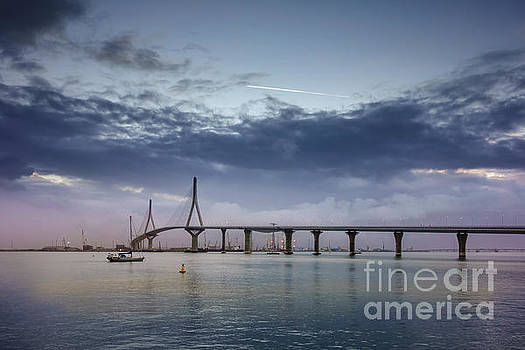 Dawning Under 1812 Constitution Bridge Cadiz Spain by Pablo Avanzini