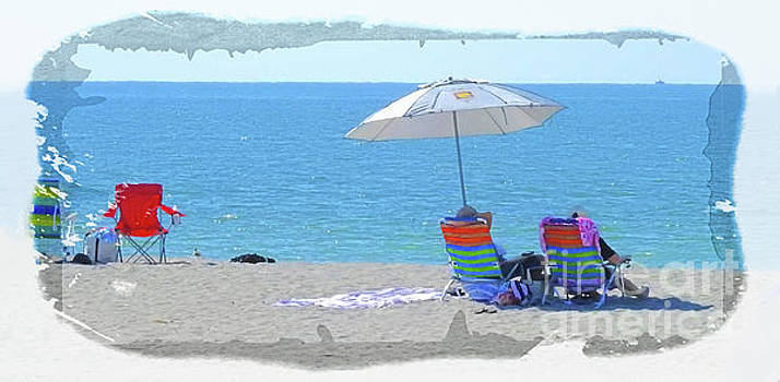 Day at the Beach by Larry Mulvehill