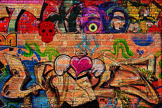 Day of the Dead Street Graffiti by Digital Art Cafe