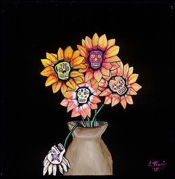 Day Of The Dead Vase by Leeann Stumpf