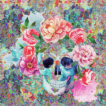 Day Of The Dead Watercolor by Digital Art Cafe