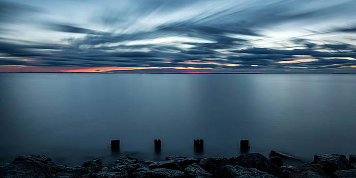 Daybreak on Whitefish Bay by Tom Clark