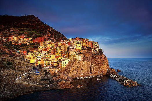 Day's End at Manarola by Andrew Soundarajan