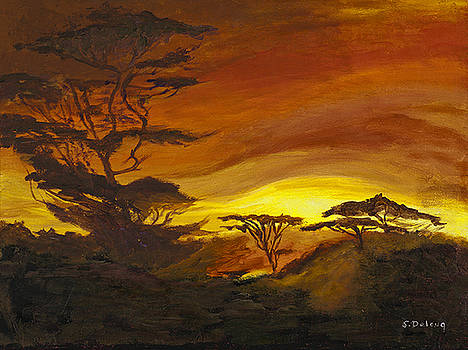 Days End Ndutu by Sandra Delong