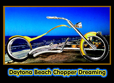 Daytona Beach Chopper Dreaming Yellow Gold jGibney The MUSEUM by The MUSEUM Artist Series jGibney