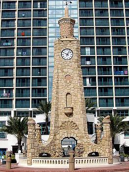 Daytona Beach Clock Tower  by Chris Mercer