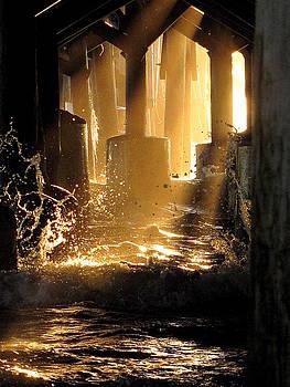 Daytona Beach Pier Sunrise  000   by Chris Mercer