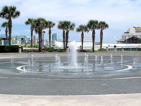 Daytona Beach Splash Fountains  by Chris Mercer
