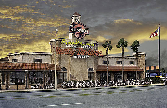 Daytona Harley Davidson Shop by Richard Nickson