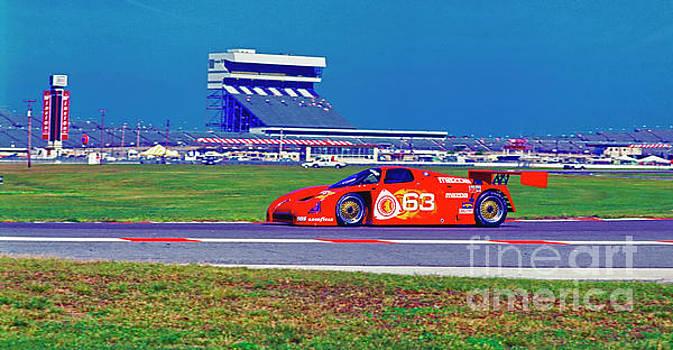 Daytona Speedway Sun Bank 24hr Mazda gtp by Tom Jelen
