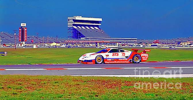 Daytona Speedway Sun Bank 24hr pontiac firebird gtp by Tom Jelen
