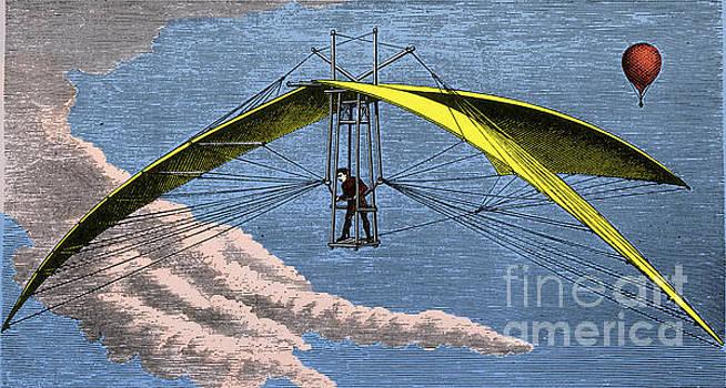 Science Source - De Groof Flying Machine 1784