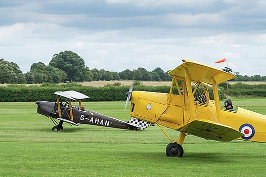 De Havilland Tiger Moths taxiing by Gary Eason