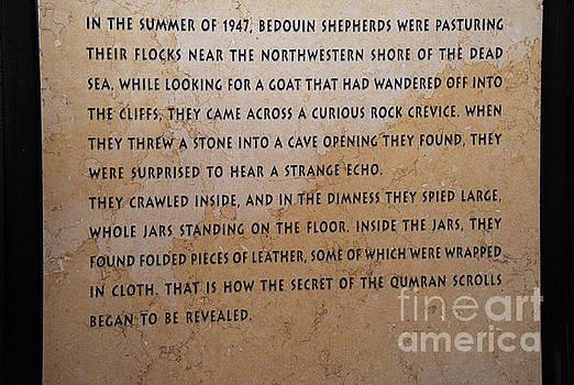 Dead Sea Scroll Document by Mae Wertz