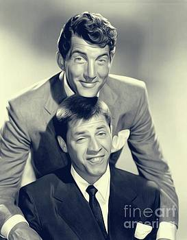 Dean Martin and Jerry Lewis by John Springfield