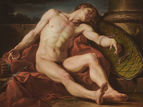 Death of a Gladiator by Jean Simon Berthelemy