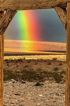 Death Valley Rainbow by Bill Gallagher