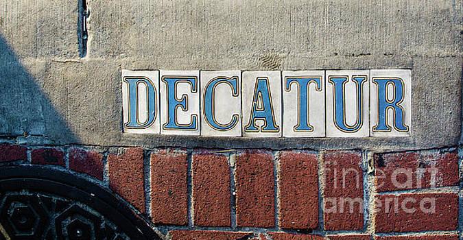 Decatur Street Sign- Nola by Kathleen K Parker