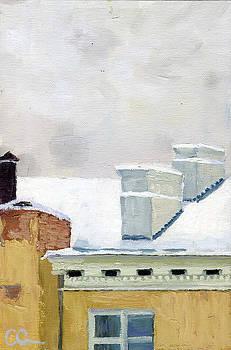 December Across The Street by Lelia Sorokina