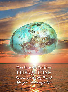December Birthstone Turquoise by Evie Cook
