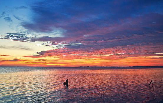 December Sunrise by Sandy Schepis