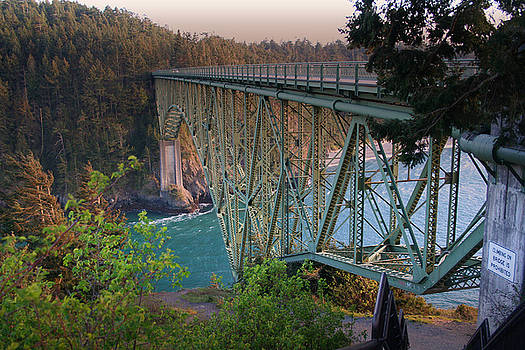 Deception Pass Bridge BR-8943 by Mary Gaines