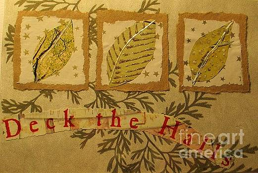 Deck the Halls Christmas Card by Susan Minier