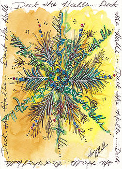 Deck The Halls Snowflake by Michele Hollister - for Nancy Asbell