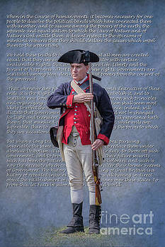 Declaration of Independence Continental Soldier by Randy Steele