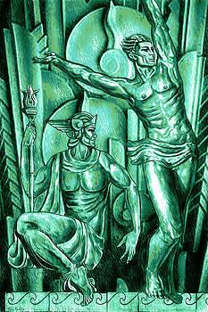 Deco Olympus patina by Tony Franza