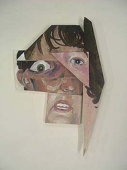 Deconstructed Reconstructed Portraits by Kellie Hogben