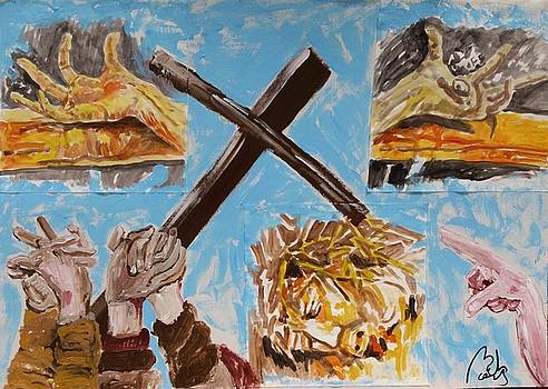 Deconstruction of Isenheim crucifixion by Bachmors Artist