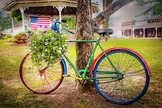 Debra and Dave Vanderlaan - Decorated Bicycle in the Park