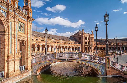 Jenny Rainbow - Decorative bridge in Architectural Complex of Plaza de Espana