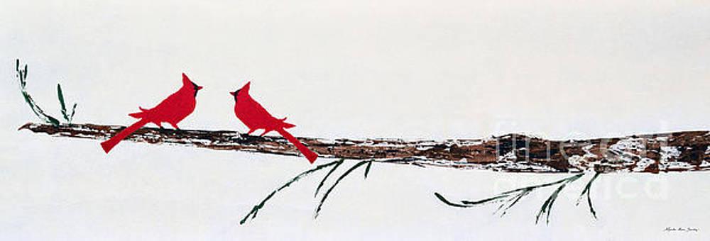 Decorative Cardinals A101216 by Mas Art Studio