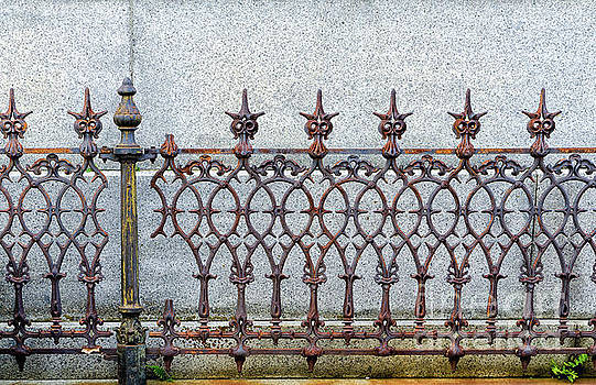 Decorative Cast and Wrought Iron Fence_ NOLA by Kathleen K Parker
